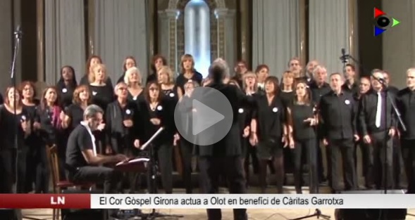 Actuació Cor Gospel Girona A L'Escola Pia D'Olot 2016