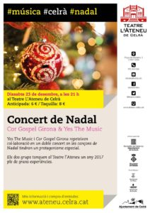 Cartell del concert a l'Ateneu de Celrà