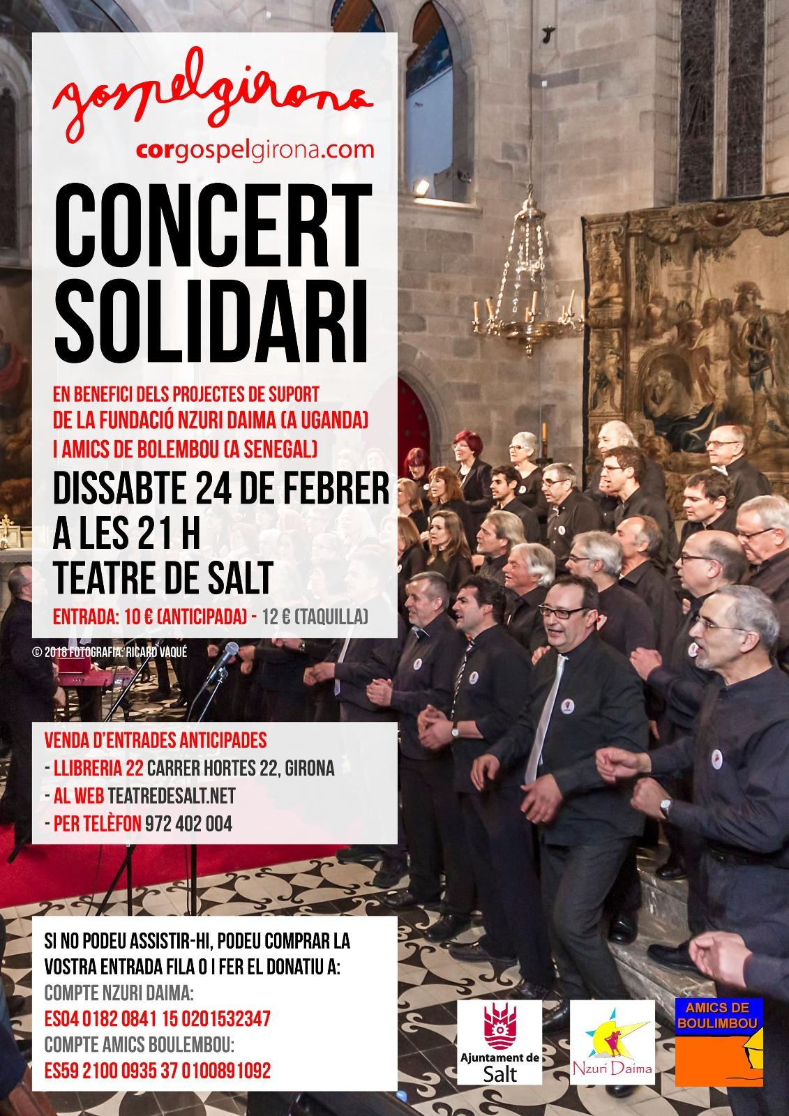2 De Febrer Del 2018: Concert Solidari A Salt