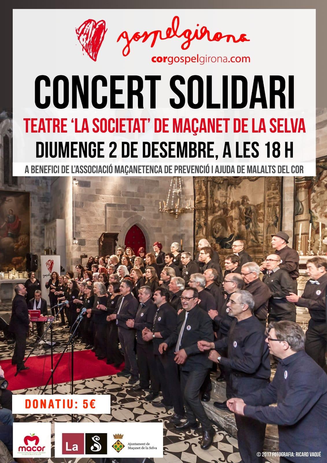 2 De Desembre Del 2018: Concert Solidari A Maçanet De La Selva