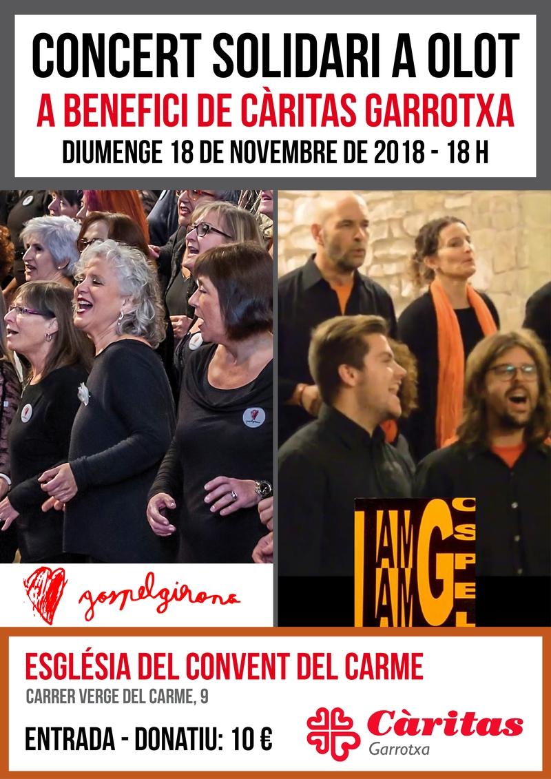 18 De Novembre De 2018: Concert A Benefici De Càritas Garrotxa, A L'església Del Carme D'Olot