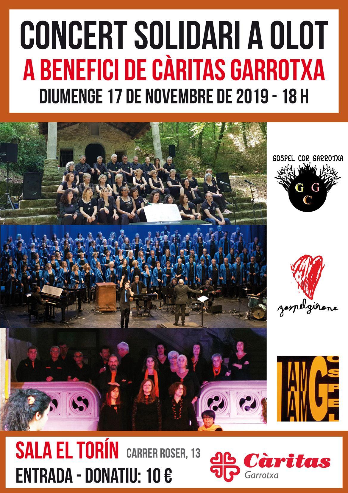 Concert Solidari A Olot A Favor De Caritas Garrotxa. 17 De Novembre De 2019