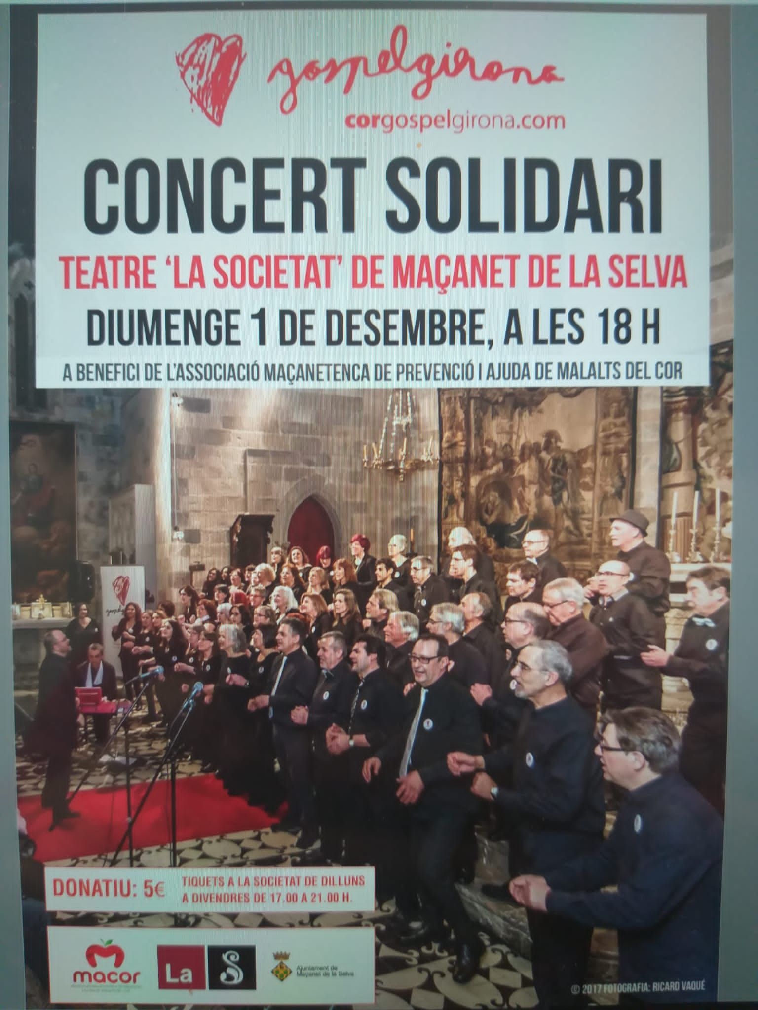 Concert Solidari A Maçanet De La Selva. 1 De Desembre De 2019